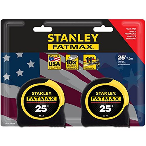 Stanley FMHT74038A FatMax 25 Foot Tape Measure 2PK by Stanley Tools