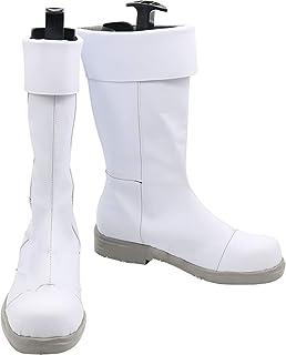 GSFDHDJS Cosplay Bottes Chaussures for My Hero Academia Todoroki Shoto White