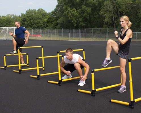 Prism Fitness Group SMART Hurdle Collection with Smart Cart