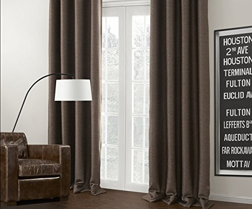 Gen 2 Valance (IYUEGOU Brown Solid Rod Pocket Blackout Curtains Draperies With Multi Size Customs 100