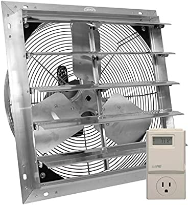 ves exhaust fan, shutter fan, box fan, with 9 foot cord 3 speed for indoor  or outdoor ventilation (12 inches with control) - - amazon com
