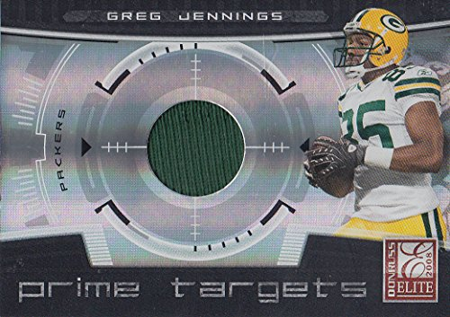 2008 Donruss Elite Prime Targets Jerseys #13 Greg Jennings Jersey /199 - (Greg Jennings Jersey)