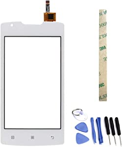 Dr.Chans Outer Screen Glass Digitizer Touch Screen Replacement with Free Tools for Lenovo A1000 1000 (Not LCD Display) White