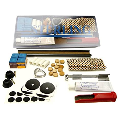 Pool Cue Repair Kits Set Tips Ferrules Scuffer Clamp Billiards Accessories