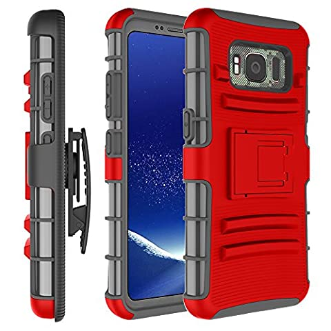 Samsung Galaxy S8 Active Case, Galaxy S8 Active Case, GPROVA [Heavy Duty] Defender Full Body Protective Hybrid Case Cover with Belt Clip for Samsung Galaxy S8 Active (Galaxy Speck 5s Case)