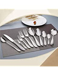 Dinnerware Sets - 10set 4pcs Lot Silver Stainless Steel Dinnerware Set Polishing Cutlery Tableware K Za4983