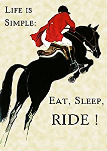 Amazon.com: Life is Simple : Eat, Sleep, Ride ! Horse