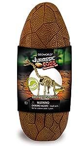 Geoworld Jurassic Eggs CL192K - Huevo con esqueleto de braquiosaurio para montar