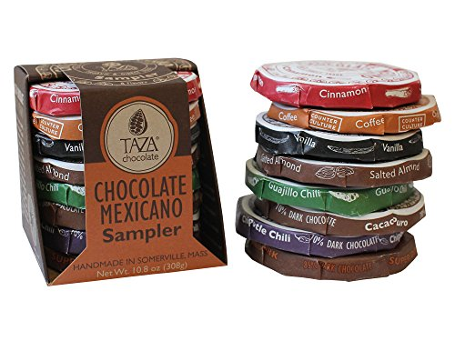Stone Ground Organic Chocolate (Taza Chocolate Mexicano Disc, Stone Ground Organic, Sampler, 10.8 Ounce)