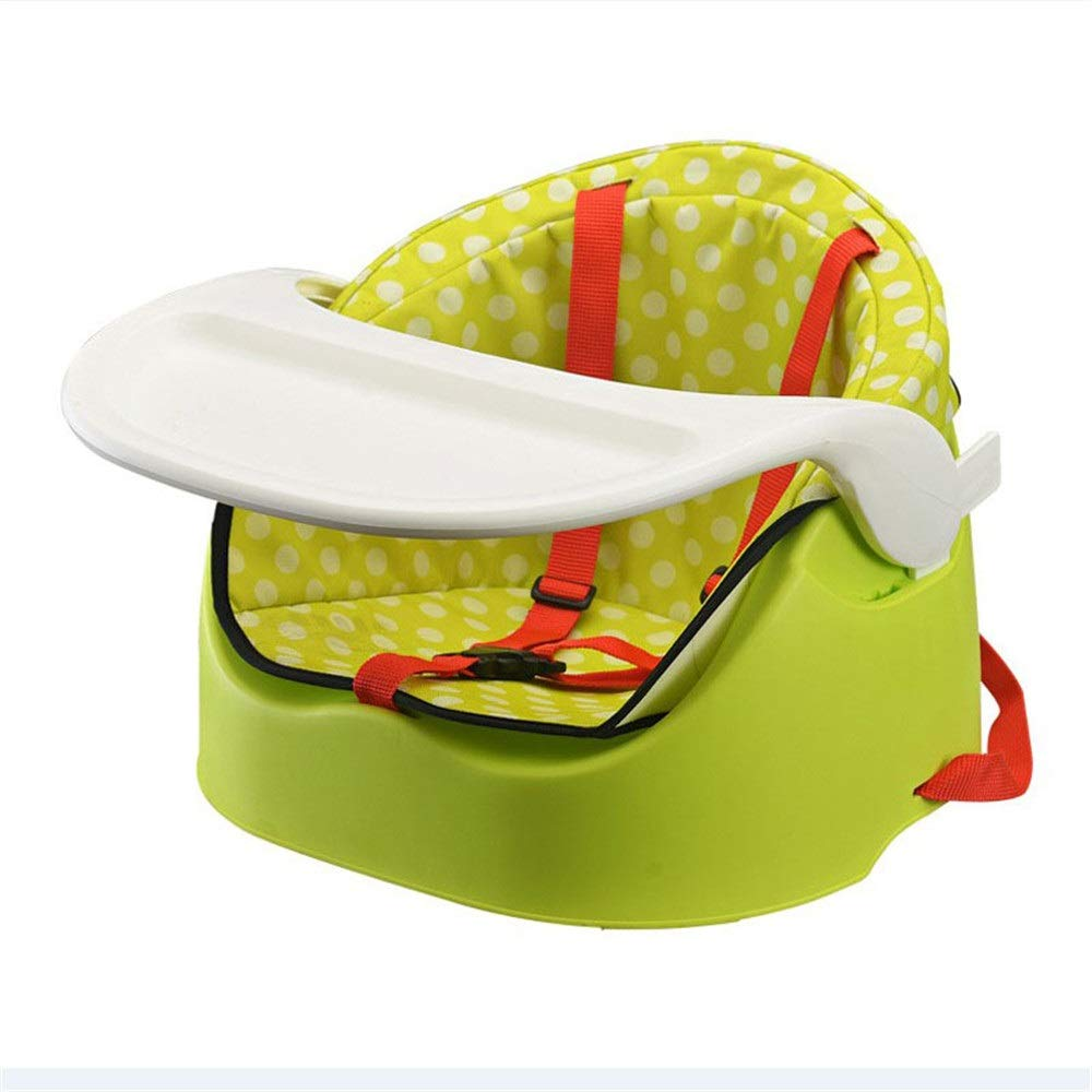 Liuxina Kids' Desk & Chair Sets Tray Safety Belt Steady Anti-Slip Safe Comfortable Suitable Detachable Booster Seat High Chair (Color : Green, Size : 3937.530cm) by Liuxina