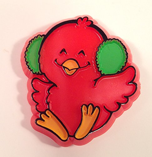 Hallmark Red Bird with Earmuffs CARDINAL PIN Lapel Brooch Vintage 1981