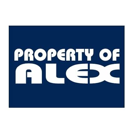 amazon com teeburon property of alex pack of 4 stickers home kitchen