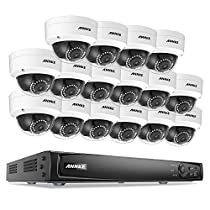 ANNKE 16-Channel 1080p PoE Video Smart Security System and (16) 1920TVL 2.0MP Weatherproof HD IP Cameras with 100ft Super Day Night Vision