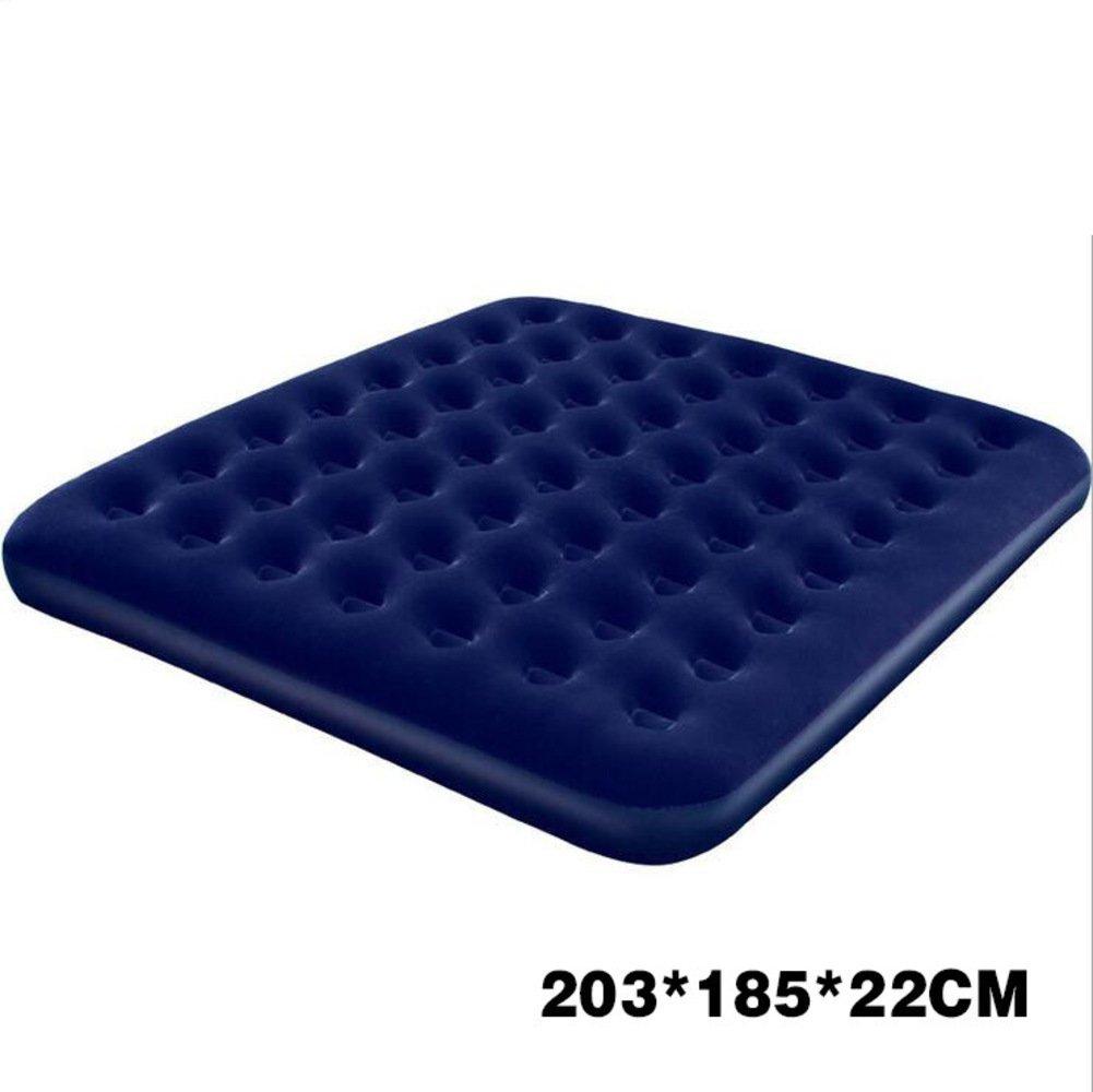 YJIAO Indoor und Outdoor Luftbett,mit Pumpe,Aufblasbare Matratze Blau Senior Matratze King Outdoor Haushalt