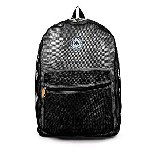 Mesh Backpack See through Student School Bag Bookbag Mesh See Through Daypack