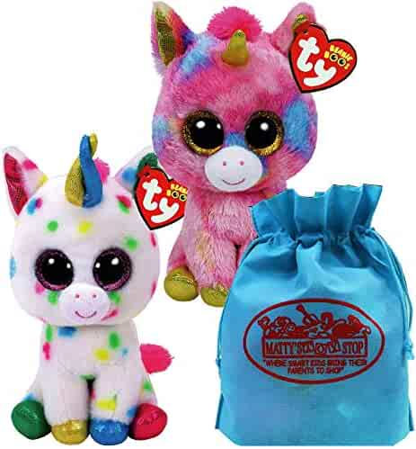 Ty Beanie Boos Unicorns Harmonie   Fantasia Gift Set Bundle with Bonus  Matty s Toy Stop Storage c66f80da1291