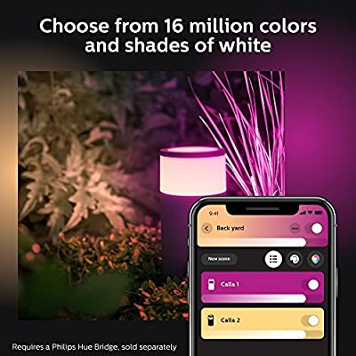 Philips Hue Calla White & Color Ambiance Outdoor Pathway light extension