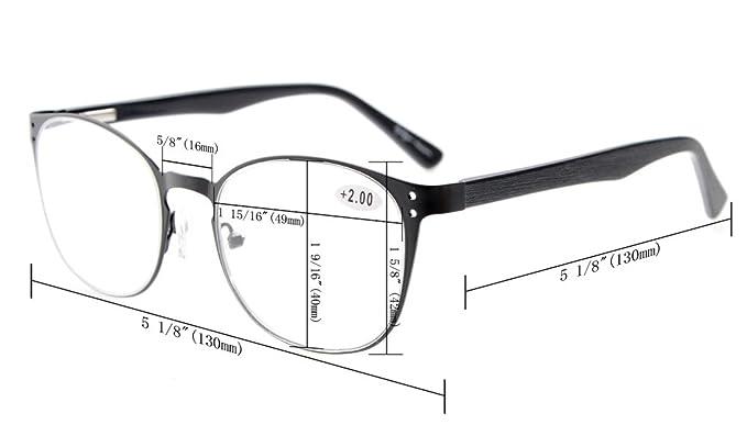Eyekepper Lettori di occhiali di qualità cerniera a molla tempie lettura Gunmetal +3.0 BSoy0ZQl