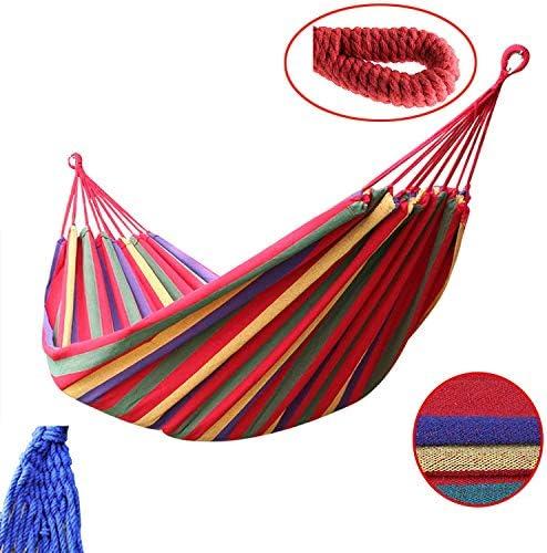 190 x 80 cm arco iris Hamaca de jard/ín para camping al aire libre de lona port/átil bolsa de almacenamiento para acampar y al aire libre jardines y viajes para colgar con cuerda de corbata capacidad de carga de hasta 200 kg