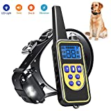 igingko Dog Training Collar with Remote 2600ft, 100% Waterproof and Rechargeable Shock Collar for Dogs with 4 Modes: LED Light/Beep/Vibration/Shock,Electric E-Collar for Small,Medium, Large Dogs