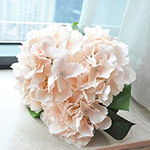 Shine-Co Artificial Hydrangea Flowers 5 Big Heads Bouquet Beautiful Flowers for Office Home Party Decoration 3