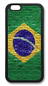 iPhone 6 Plus Cases, Brazil Durable Soft Slim TPU Case Cover for iPhone 6 Plus 5.5 inch Screen (Does NOT fit iPhone 5 5S 5C 4 4s or iPhone 6 4.7 inch screen) - TPU Black