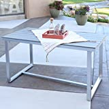 WE Furniture All-Weather Dining Table, Grey