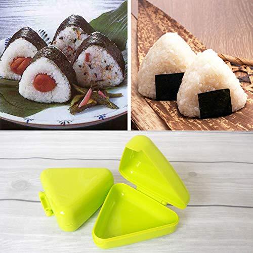 (yanQxIzbiu Silicone Mold,DIY Triangle Sushi Mold for Nori Rice Ball Box Press Mold Onigiri Maker Kitchen Tool Random Color)