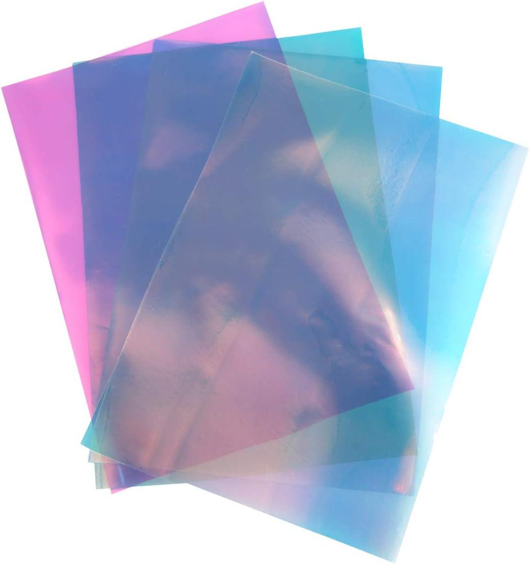 Supvox 4 Hojas A4 Holográfico Cromado Vinilo Ópalo Iridiscente Película de Transferencia de Papel para T Shirt Proyectos de Artesanía Muestra Plotters: Amazon.es: Hogar