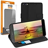 OnePlus5 Case - Orzly Multi-Function Wallet Case for OnePlus 5 SmartPhone Model (2017 Version) - BLACK Wallet Case Style Phone Cover with Card Pockets & Integrated Display Stand