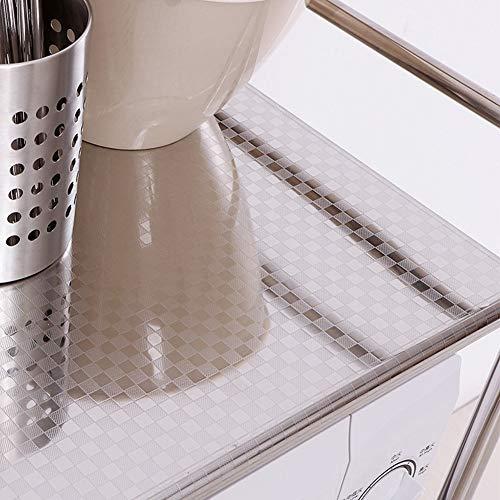 Shelf Storage Racks Cupboard Organizers Kitchen Landing Stainless Steel Four Floors Microwave Oven Rack It Can Move Wheeled Storage Rack 6034100.5cm ZHAOYONGLI by ZHAOYONGLI-shounajia (Image #3)