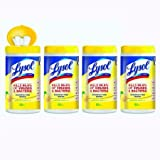Lysol Disinfecting Wipes, Lemon & Lime Blossom, 320ct (4X80ct) (3 pack(320 Count))