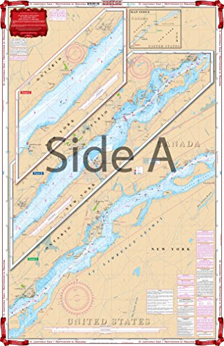 Waterproof Charts, Standard Navigation, 78A St Lawrence East/Morristown to (Massena Water)