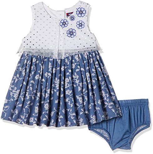 6b0441e38f24 nauti nati Baby Girls  A-Line Midi Dress (NSS18-502A-6-12M White ...