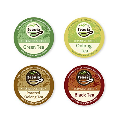 Teasia All Natural Oolong Sampler Pack, 12-count 2.0 COMPATIBLE K-Cup Hot Tea Iced Tea Capsules Tea Pods for Keurig Brewers