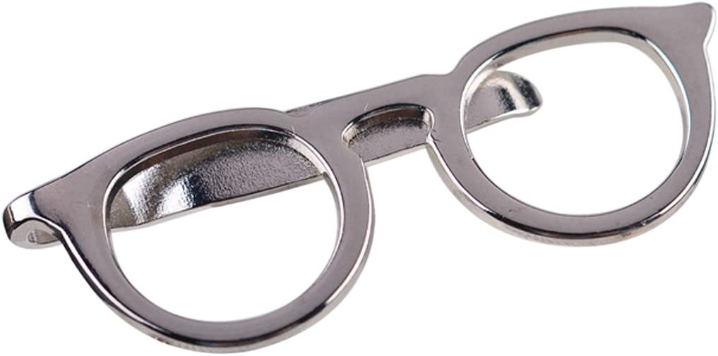 Dabixx 1 Pieza Clip de Corbata para Hombre Rojo Hombres Gafas Barras de Lazo Pin Broche para Boda Traje de Negocios Corbata Accesorios de Regalo