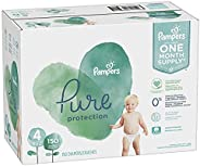 Diapers Size 4, 150 Count - Pampers Pure Protection Disposable Baby Diapers, Hypoallergenic and Unscented Prot