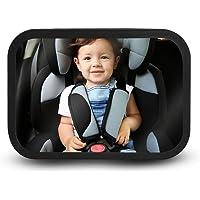 BLACK MAMUT Espejo Retrovisor de Bebé para Auto, Grande, Montar en la Cabecera, Fabricado en Acrílico, Antishock de Gran…