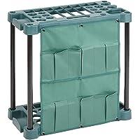 Lenoxx Garden Tool Organizer – Portable Utility Rack Holds 40 Yard Tools – Garage Organizers and Storage Home Essentials
