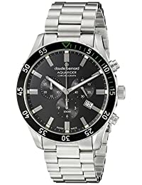 Claude Bernard Men's 10223 3NVM NV Aquarider Analog Display Swiss Quartz Silver Watch