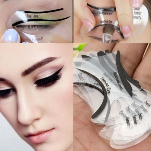10Pcs Cat Eyeliner Cosmetic Smokey Eye Stencil Models Template Shaper Makeup kit by Balance World Inc