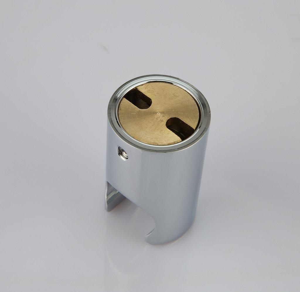 Polished Chrome Kelica All Brass Handheld Shower Head Holder Bracket Wall Mount for Bathroom Hand Sprayer Wand or Toilet Hand Held Bidet Spray