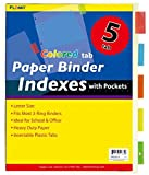 Paper Binder Indexes with Pockets and Colored Tabs 48 pcs sku# 1916137MA