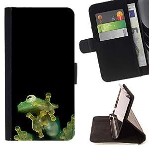 Momo Phone Case / Flip Funda de Cuero Case Cover - Minúsculos lindos de la selva de la rana - HTC DESIRE 816