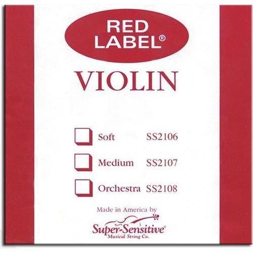Bulk Red Label Violin String 12-Sets 4/4 Medium