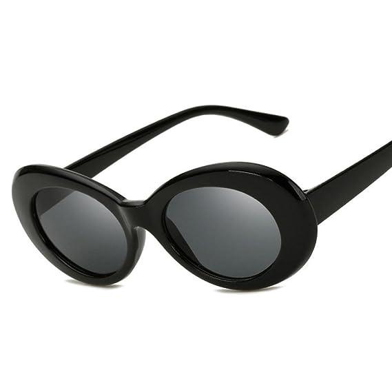 Gusspower Gafas de sol ovaladas pequeñas retro Unisex, Gafas Barato Gafas de sol con montura de plastico Moda Gafas de viaje para hombres mujeres (A): ...