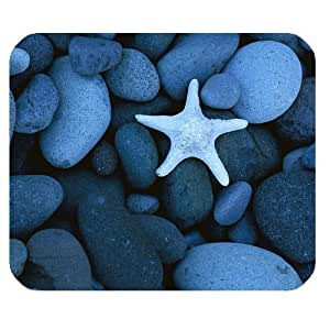 Crystal Blue Starfish Personalized Rectangle Mouse Pad by icecream design