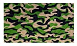 Funky Camo Dark Army Green Multi - 2'x3' Custom Stainmaster Premium Nylon Carpet Area Rug ~ Bound Finished Edges
