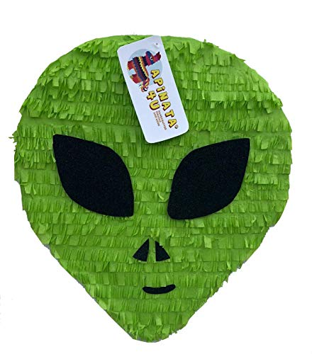 APINATA4U Green Alien Head Pinata Out of This World Theme Pinata