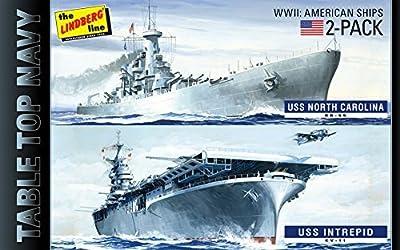 HL419 1/1200 WW.II table top Navy 2 pack USS Intrepid & USS North Carolina